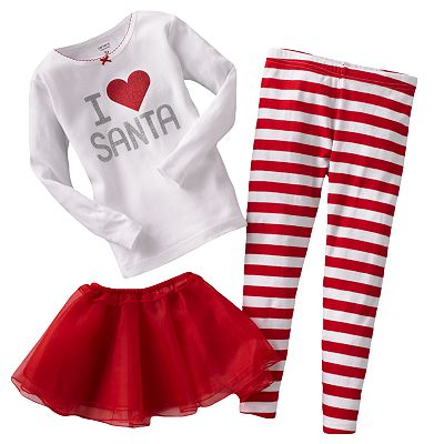 Carter's I Heart Santa and Stripe Pajama Set - Toddler