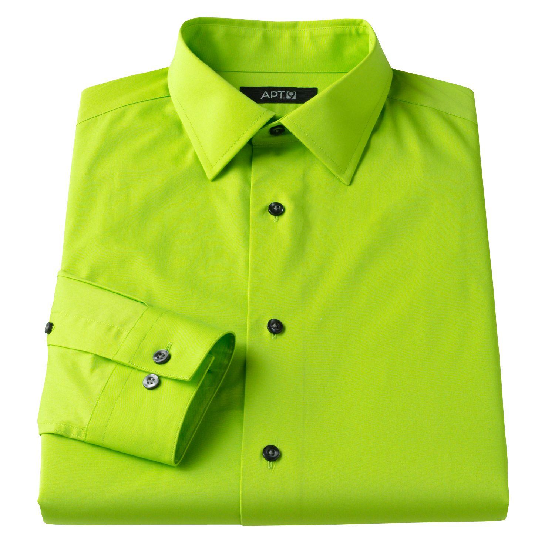 Neon Green Button Down Shirt | Is Shirt