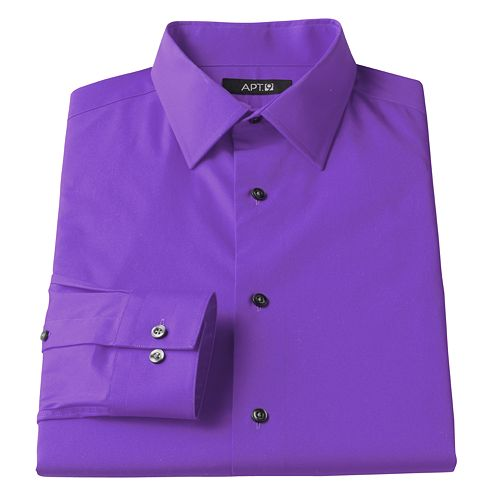 22b2a7949a5a8 Men s Apt. 9® Slim-Fit Stretch Spread-Collar Dress Shirt