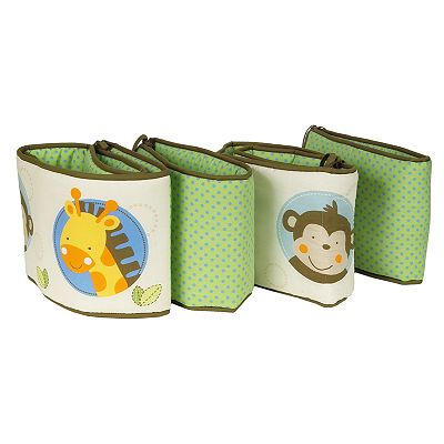 Sumersault 4-pc. Monkey In The Middle Reversible Crib Bumper