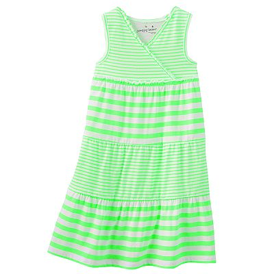 Jumping Beans Neon Striped Tiered Dress - Toddler
