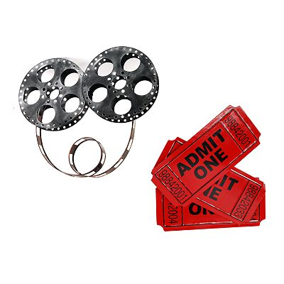 Metro Design USA Movie Tickets and Reel 2-pc. Wall Decor Set