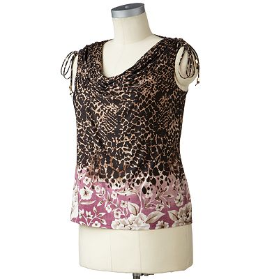 Dana Buchman Pebble Drapeneck Top - Women's Plus