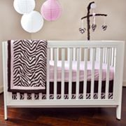 Pam Grace Creations 10-pc. Zara Zebra Crib Bedding Set