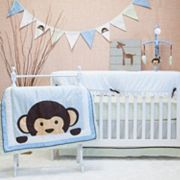 Pam Grace Creations 10-pc. Maddox Monkey Crib Bedding Set