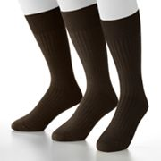 Jockey 3-pk. Modern Ribbed Crew Performance Socks