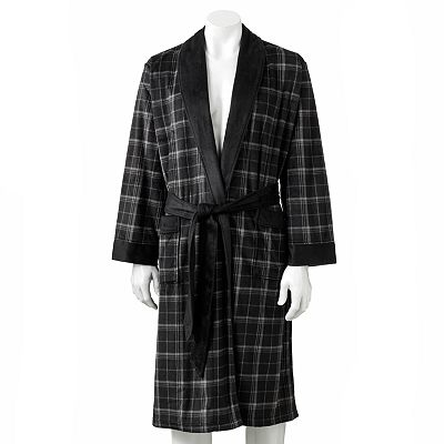 Chaps Black Plush Robe