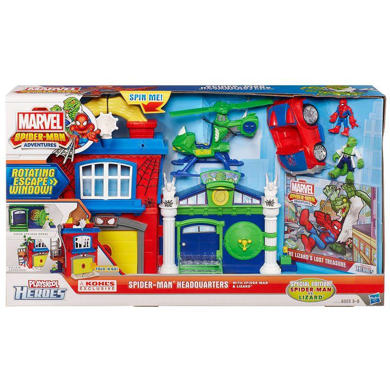 Marvel Spider-Man Adventures Playskool Heroes Spider-Man Headquarters by Hasbro
