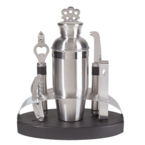 Oggi 7-pc. Stainless Steel Oval Barware Set