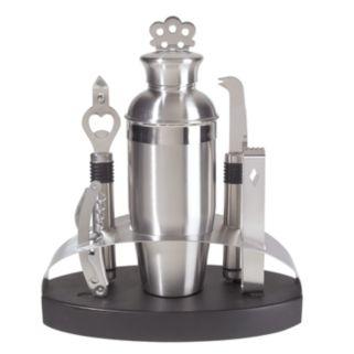 Oggi 7-pc. Stainless Steel Oval Barware Set