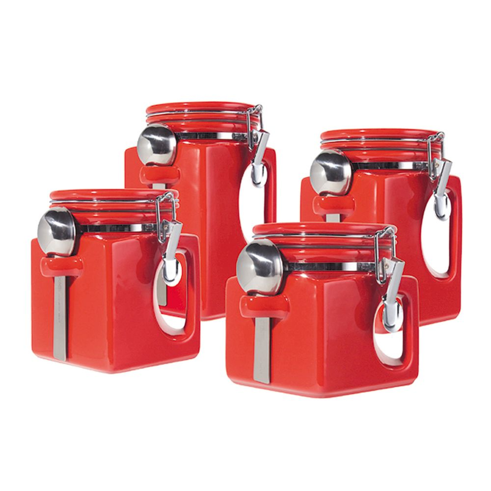 ez grip handle 4 pc kitchen canister set