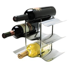 Oggi 9-Bottle Stainless Steel Wine Rack