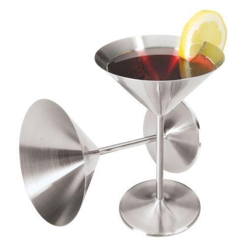Oggi 2-pc. Stainless Steel Martini Goblet Set