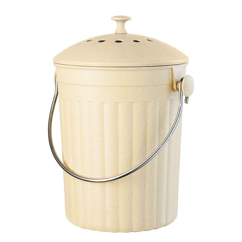 Countertop Compost : Oggi Countertop Compost Pail (Charcoal/Neutral/Yellow)