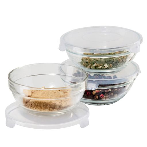 Oggi 3-pc. Glass Pinch Bowl Set