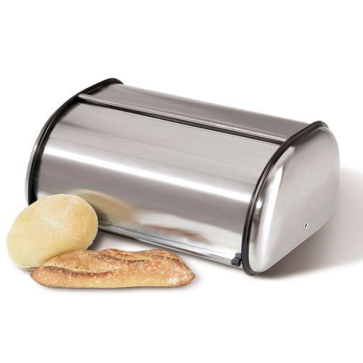 Oggi Stainless Steel Roll-Top Bread Box