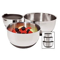 Oggi 3-pc. Stainless Steel Mixing Bowl Set
