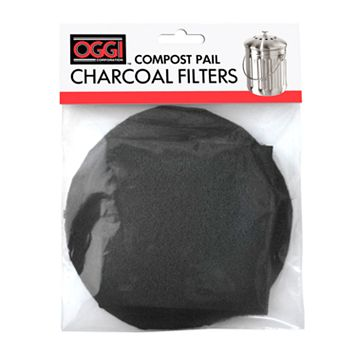 Oggi 2-pk. Charcoal Compost Filters