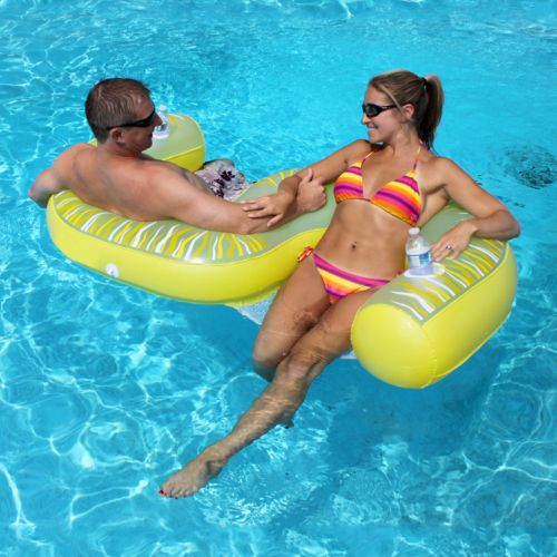 Rave Sports Fiji 2-Person Inflatable Lounge Chair Pool Float