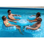 Rave Paradise 4-Person Inflatable Lounge Chair Pool Float