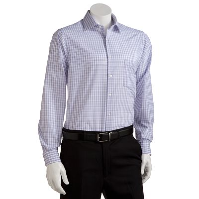 Van Heusen Classic-Fit Plaid No-Iron Spread-Collar Dress Shirt