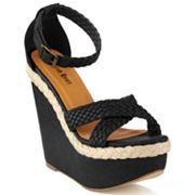 Sacred Heart Lion Platform Wedge Sandals - Women