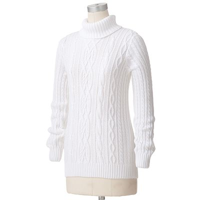 Croft and Barrow Cable-Knit Turtleneck Sweater