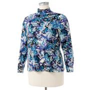 Croft and Barrow Splatter Mockneck Top - Women's Plus