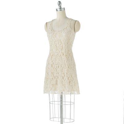 LC Lauren Conrad Crochet Racerback Tank Dress Set