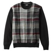 Haggar Jacquard Plaid Sweater - Big and Tall