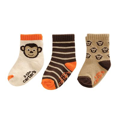 Carter's 3-pk. Monkey Socks - Baby