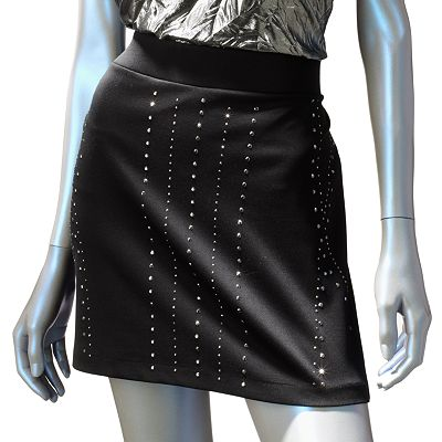 Rock and Republic Embellished Ponte Miniskirt