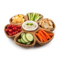 Core Bamboo Revolving Vegetable Serving Platter