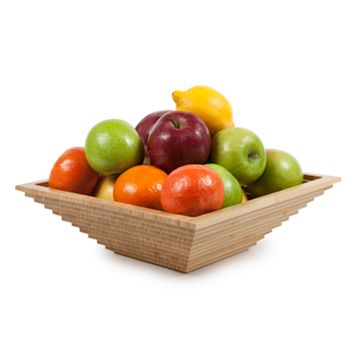 Core Bamboo Luxe Collection Aztec Square Serving Bowl