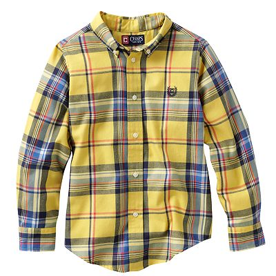 Chaps Plaid Woven Button-Down Shirt - Boys 4-7