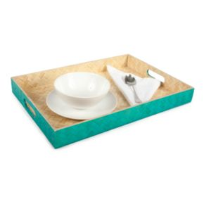 Core Bamboo Zig-Zag Woven Breakfast Serving Tray