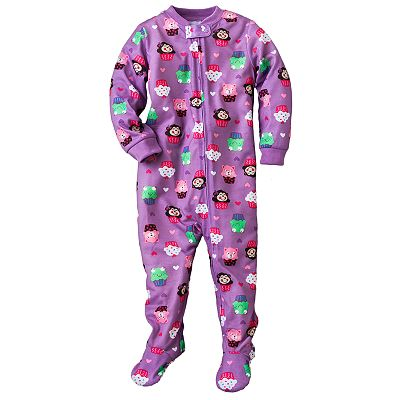 Jumping Beans Animal Cupcake Footed Pajamas - Baby