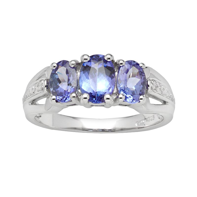 Sterling Silver Tanzanite Ring, Women's, Size: 7, Purple