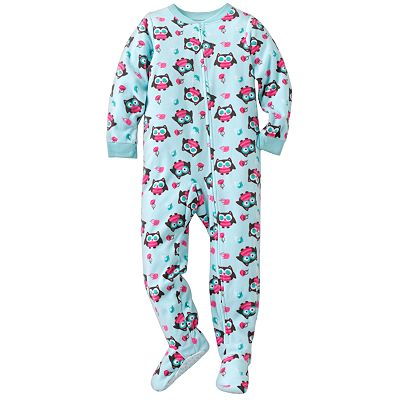 Jumping Beans Owl Microfleece Footed Pajamas - Girls
