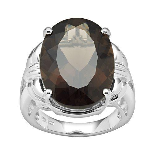 Sterling Silver Smoky Quartz Ring
