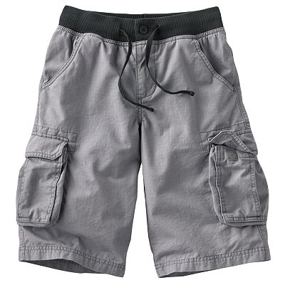Urban Pipeline Knit-Waist Chambray Ripstop Cargo Shorts - Boys 8-20