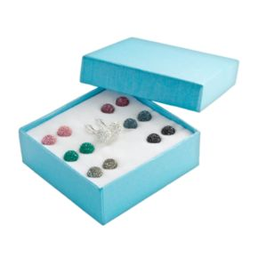 Sterling Silver Crystal Interchangeable Drop Earring Set