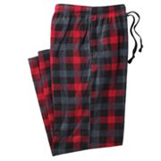 Croft and Barrow Checked Microfleece Lounge Pants - Big and Tall