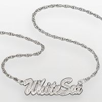 LogoArt Chicago White Sox Sterling Silver Script Necklace