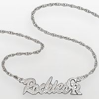 LogoArt Colorado Rockies Sterling Silver Script Necklace