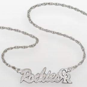 LogoArt Colorado Rockies Sterling Silver Script Necklace