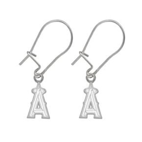 Los Angeles Angels of Anaheim Sterling Silver Logo Drop Earrings