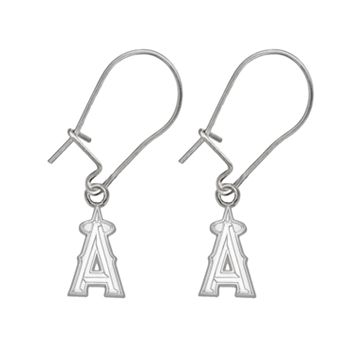 Los Angeles Angels of Anaheim Sterling Silver Logo Drop Earrings
