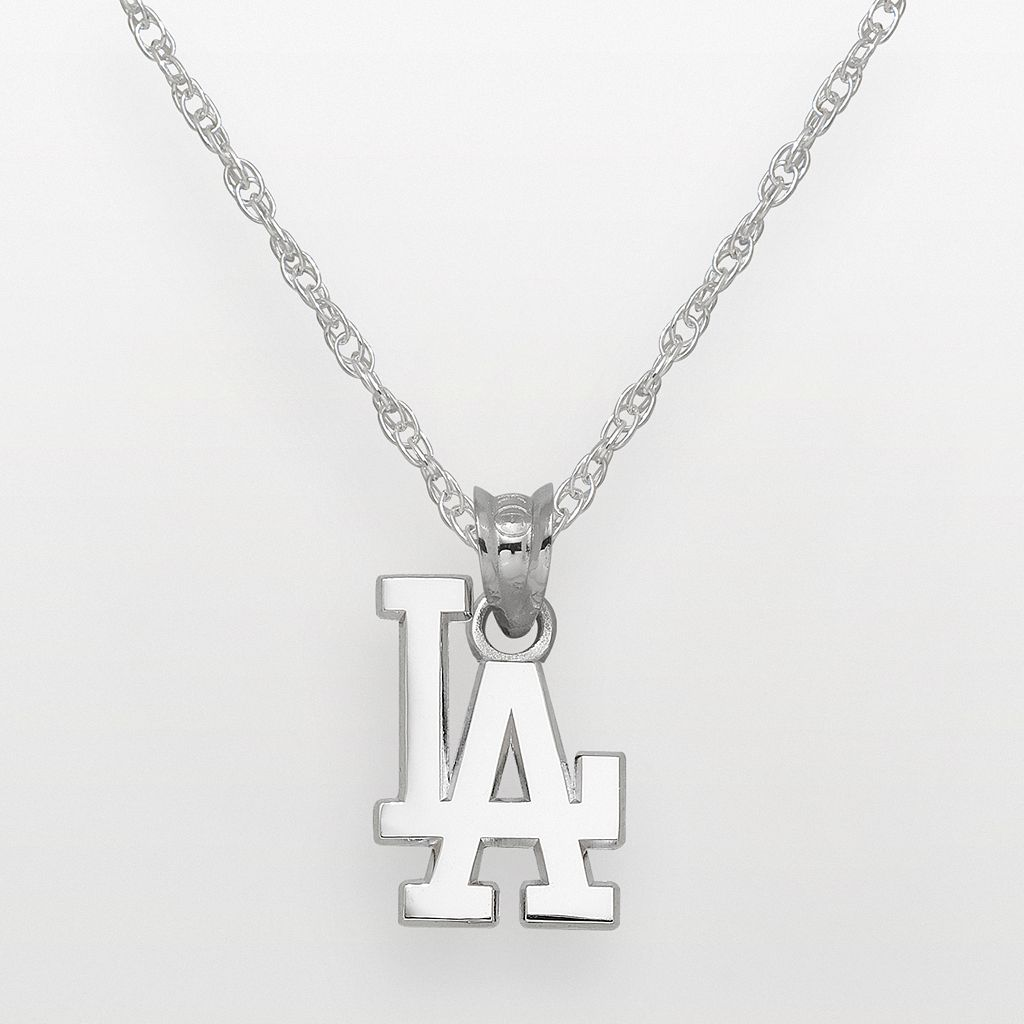 LogoArt Los Angeles Dodgers Sterling Silver Logo Pendant