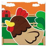 Studio Arts Kids Animal Farm Rooster Wall Art